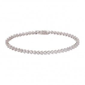 White Gold Diamond Line Bracelet 4.85ct G-H/VS+